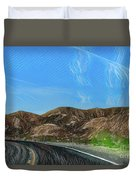 Chem Trails Valley Of Fire  Duvet Cover