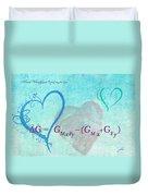 Chemical Thermodynamic Equation For Love Duvet Cover