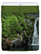 Chemisal Falls At Vichy Springs In Ukiah In Mendocino County, California Duvet Cover