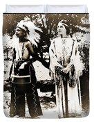 Cherokee Indian Couple Duvet Cover