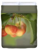 Cherries Hanging On A Branch Duvet Cover