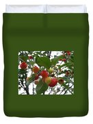 Cherries In The Morning Rain Duvet Cover