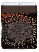 Cherry Basket Weaving Abstract Duvet Cover
