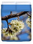 Pear Blossom And Bee Duvet Cover