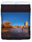 Cherry Blossom At The Mlk Monument Duvet Cover