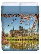 Cherry Blossom Branch Brook Park, Newark, Nj  Duvet Cover