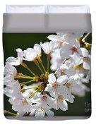 Cherry Blossom Cluster Duvet Cover