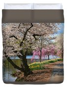 Cherry Blossom Trees Of Branch Brook Park 17 Duvet Cover