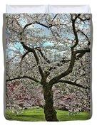 Cherry Blossom Trees Of Branch Brook Park 31 Duvet Cover
