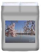 Cherry Blossoms Monument Duvet Cover