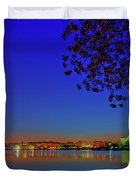 Cherry Blossoms Sunrise Duvet Cover