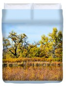 Cherry Creek Pond In Autumn Duvet Cover