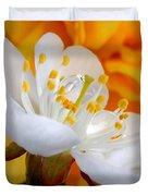 Cherry Flower In The Spring, In Profile Duvet Cover