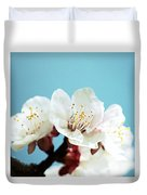 Apricot Flowers IIi Duvet Cover