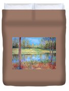 Cherry Moon Pond Duvet Cover