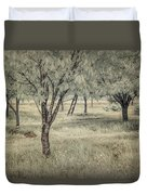 Cherry Orchard In Infrared Duvet Cover