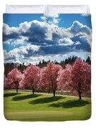 Cherry Tree Bloom Color Duvet Cover
