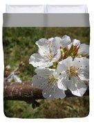Cherry Tree Blossom White Flower Duvet Cover