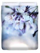 Cherry Tree Blossoms In Morning Sunlight Duvet Cover