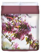 Cherry Tree Flowers Duvet Cover