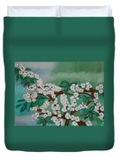 Cherry Tree Rich In Flowers Duvet Cover