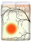 Cherry Tree In Fall Duvet Cover