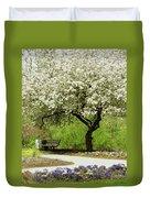 Cherry Tree In Full Bloom Duvet Cover