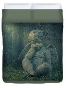 Cherub Lost In Thoughts Duvet Cover