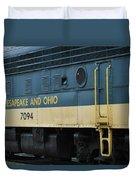 Chesapeake And Ohio Boxcar  Duvet Cover