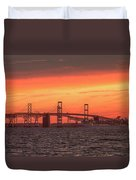 Chesapeake Bay Bridge Sunset Duvet Cover