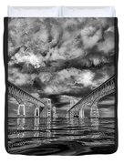 Chesapeake Bay Bw Duvet Cover