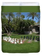 Chess At The Biltmore Duvet Cover