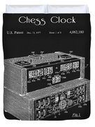 Chess Clock Patent Duvet Cover