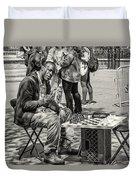 Chess Player Duvet Cover