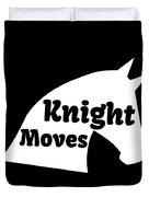 Chess Player Gift Knight Moves Horse Lover Chess Lover Duvet Cover
