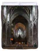 Chester Cathedral England Uk Inside The Nave Duvet Cover