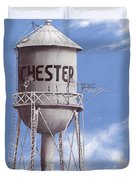 Chester Water Tower Poster Duvet Cover