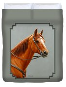 Chestnut Dun Horse Painting Duvet Cover by Crista Forest