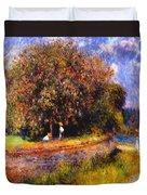 Chestnut Tree Blooming 1881 Duvet Cover
