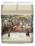 Chestnut Trees At Louveciennes Duvet Cover