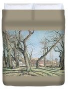 Chestnut Trees At Louveciennes Duvet Cover by Camille Pissarro