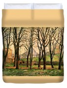 Chestnut Trees At The Jas De Bouffan Duvet Cover by Paul Cezanne