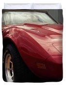 Chevrolet Corvette 1977 Duvet Cover