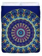 Chevrons II Mandala Duvet Cover