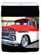 Chevy Apache Custom Hot Rod Truck Duvet Cover