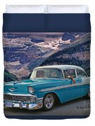 Chevy At Lake Louise Duvet Cover