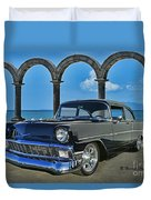 Chevy Belair In Mexico Duvet Cover