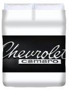 Chevy Camaro Emblem Duvet Cover