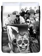 Chevy Decor Day Of Dead Bw Duvet Cover