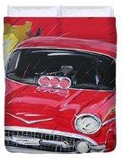 Chevy Drag Duvet Cover